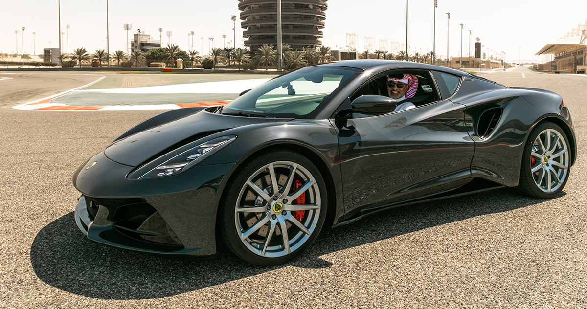 Lotus Emira dynamic debut in the Middle East.